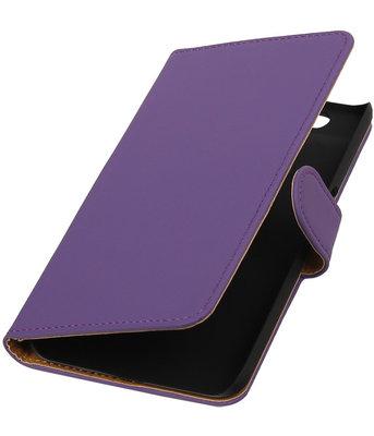Hoesje voor Huawei Nexus 6P - Effen Paars Booktype Wallet