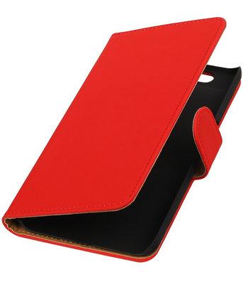 Hoesje voor Huawei Nexus 6P - Slang Rood Bookstyle Wallet