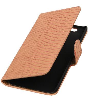 Hoesje voor Huawei Nexus 6P - Slang Roze Bookstyle Wallet