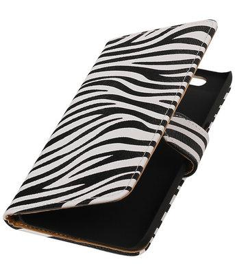 Hoesje voor Huawei Nexus 6P - Zebra Booktype Wallet