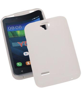 Hoesje voor Huawei Y560 / Y5 TPU Transparant Wit