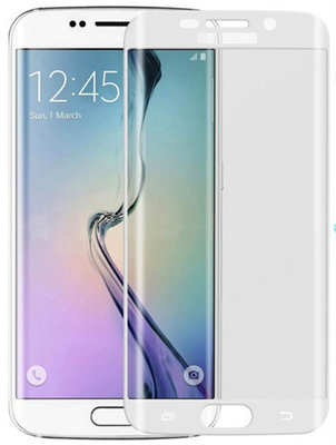 Wit Glitter Samsung Galaxy S6 Edge Tempered Glass Screen Protector