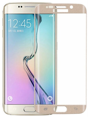 Goud Glitter Samsung Galaxy S6 Edge Tempered Glass Screen Protector