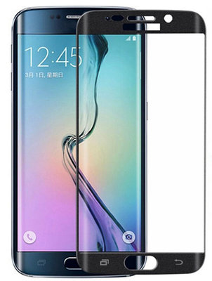 Zwart Glitter Samsung Galaxy S6 Edge Tempered Glass Screen Protector