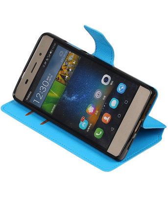 Blauw Hoesje voor Huawei P8 Lite TPU wallet case booktype HM Book