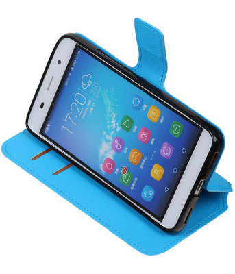 Blauw Hoesje voor Huawei Honor Y6 / 4A TPU wallet case booktype HM Book