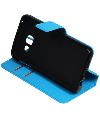Blauw Hoesje voor Samsung Galaxy A3 2016 TPU wallet case booktype HM Book
