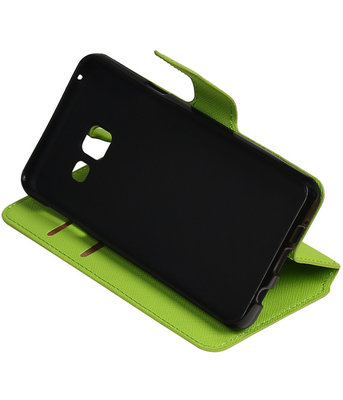 Groen Hoesje voor Samsung Galaxy A3 2016 TPU wallet case booktype HM Book
