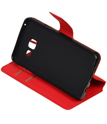 Rood Hoesje voor Samsung Galaxy A3 2016 TPU wallet case booktype HM Book