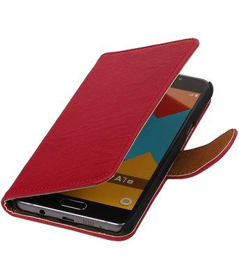 Rozeâ‹ Echt Leer Leder booktype wallet cover voor Hoesje voor Samsung Galaxy A7 2016