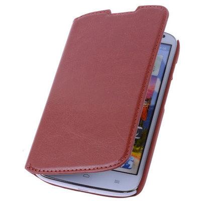 Bestcases Bruin Hoesje voor XiaoMi Mi 3 Map Case Book Cover