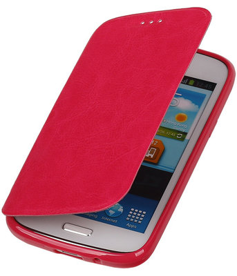Polar Map Case Roze Hoesje voor Samsung Galaxy S3 TPU Bookcover