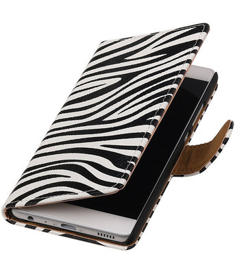 Zebra booktype wallet cover voor Hoesje voor Sony Xperia M