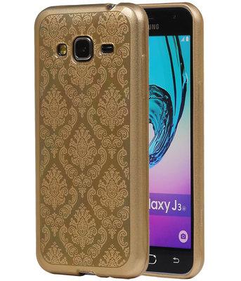 Goud Brocant TPU back case cover voor Hoesje voor Samsung Galaxy J3
