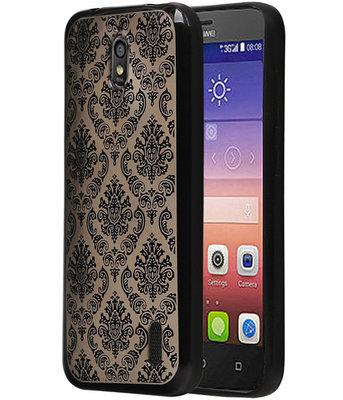 Zwart Brocant TPU back cover voor Hoesje voor Huawei Y625