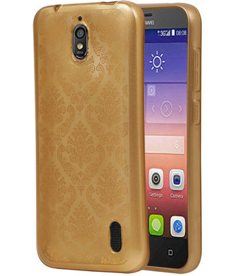 Goud Brocant TPU back cover voor Hoesje voor Huawei Y625