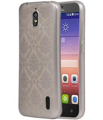 Zilver Brocant TPU back cover voor Hoesje voor Huawei Y625