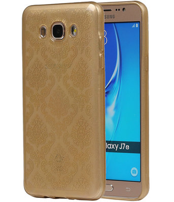 Goud Brocant TPU back case cover hoesje voor Samsung Galaxy J7 2016