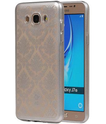 Zilver Brocant TPU back case cover voor Hoesje voor Samsung Galaxy J7 2016