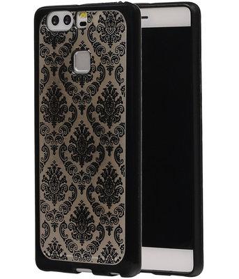 Zwart Brocant TPU back case cover voor Hoesje voor Huawei P9
