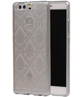 Zilver Brocant TPU back case cover voor Hoesje voor Huawei P9