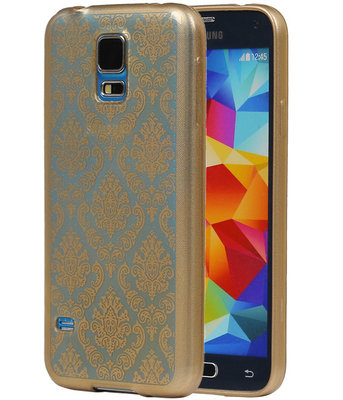 Goud Brocant TPU back case cover hoesje voor Samsung Galaxy S5