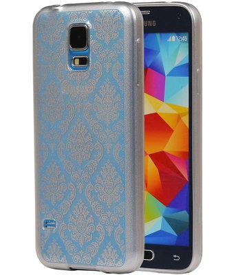 Zilver Brocant TPU back case cover voor Hoesje voor Samsung Galaxy S5