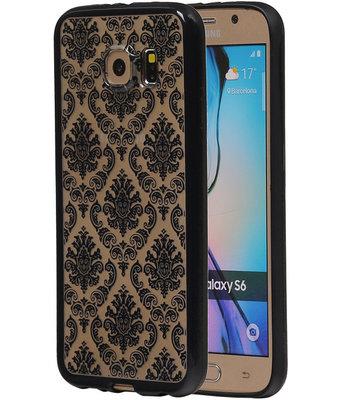 Zwart Brocant TPU back case cover hoesje voor Samsung Galaxy S6