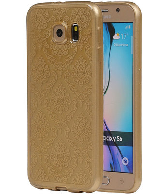 Goud Brocant TPU back case cover hoesje voor Samsung Galaxy S6