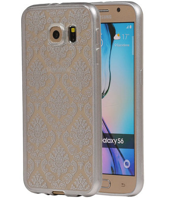 Zilver Brocant TPU back case cover hoesje voor Samsung Galaxy S6