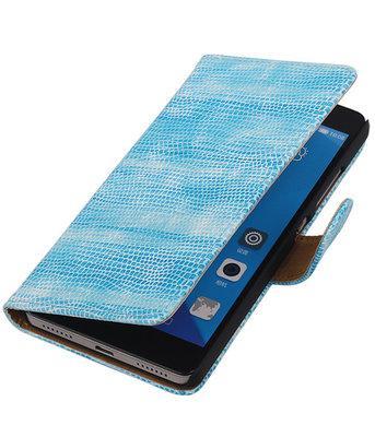 Hoesje voor Huawei Honor 7 Booktype Wallet Mini Slang Blauw