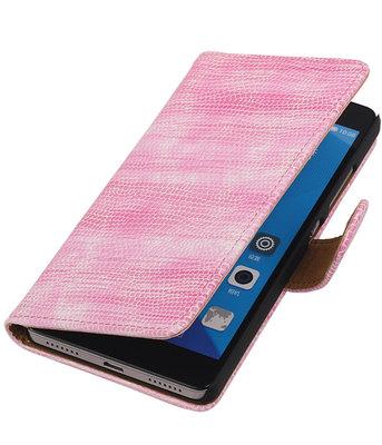 Hoesje voor Huawei Honor 7 Booktype Wallet Mini Slang Roze