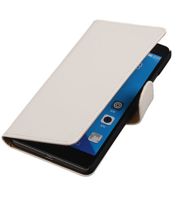 Hoesje voor Huawei Honor 7 Effen Bookstyle Wallet Wit