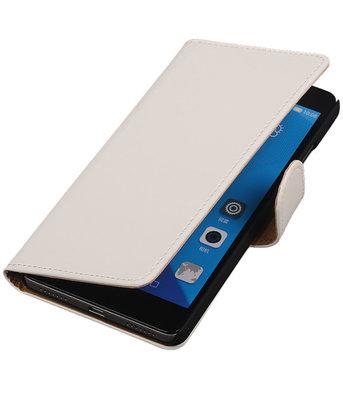 Hoesje voor Huawei Honor 7 Effen Bookstyle Wallet Wit