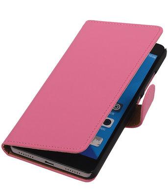 Huawei Honor 7 Effen Bookstyle Wallet Hoesje Roze
