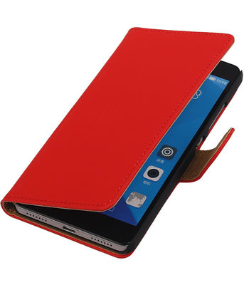 Hoesje voor Huawei Honor 7 Effen Bookstyle Wallet Rood