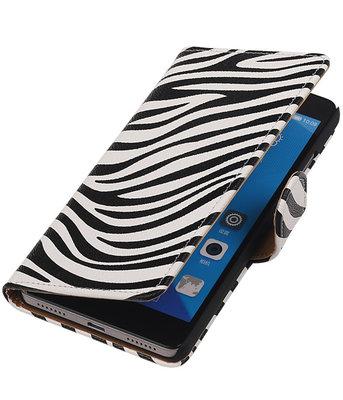 Hoesje voor Huawei Honor 7 Zebra Bookstyle Wallet