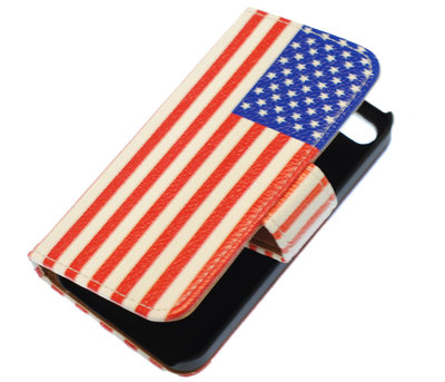USA booktype wallet cover hoesje voor LG Optimus L5