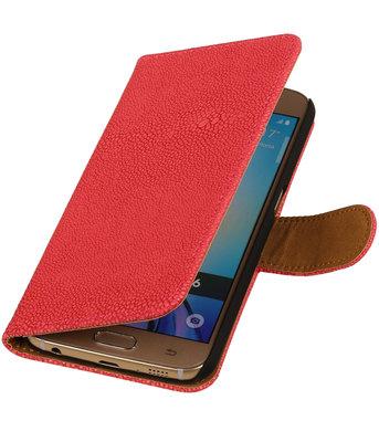 Roze Ribbel booktype wallet cover voor Hoesje voor HTC One Max