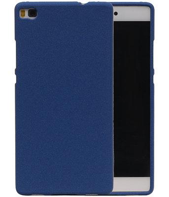 Blauw Zand TPU back case cover voor Hoesje voor Huawei P8