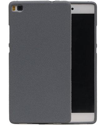 Grijs Zand TPU back case cover voor Hoesje voor Huawei P8