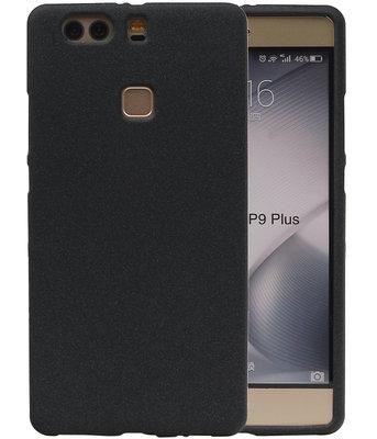 Zwart Zand TPU back case cover voor Hoesje voor Huawei P9 Plus