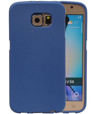 Blauw Zand TPU back case cover hoesje voor Samsung Galaxy S6