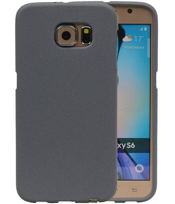 Grijs Zand TPU back case cover hoesje voor Samsung Galaxy S6