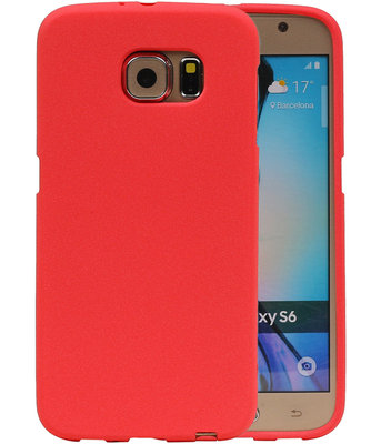 Rood Zand TPU back case cover hoesje voor Samsung Galaxy S6
