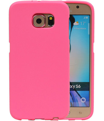 Roze Zand TPU back case cover hoesje voor Samsung Galaxy S6