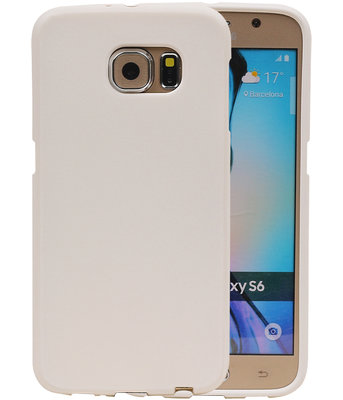 Wit Zand TPU back case cover hoesje voor Samsung Galaxy S6