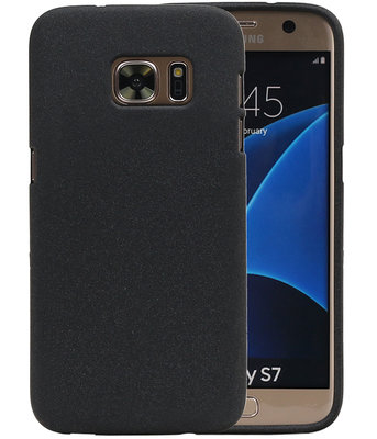 Zwart Zand TPU back case cover hoesje voor Samsung Galaxy S7