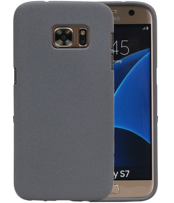 Grijs Zand TPU back case cover hoesje voor Samsung Galaxy S7