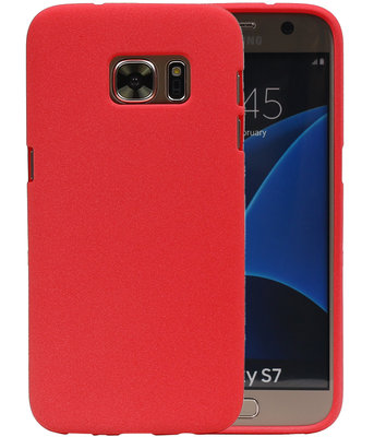 Rood Zand TPU back case cover voor Hoesje voor Samsung Galaxy S7